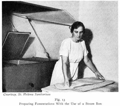 Preparing a fomentation from a steam box